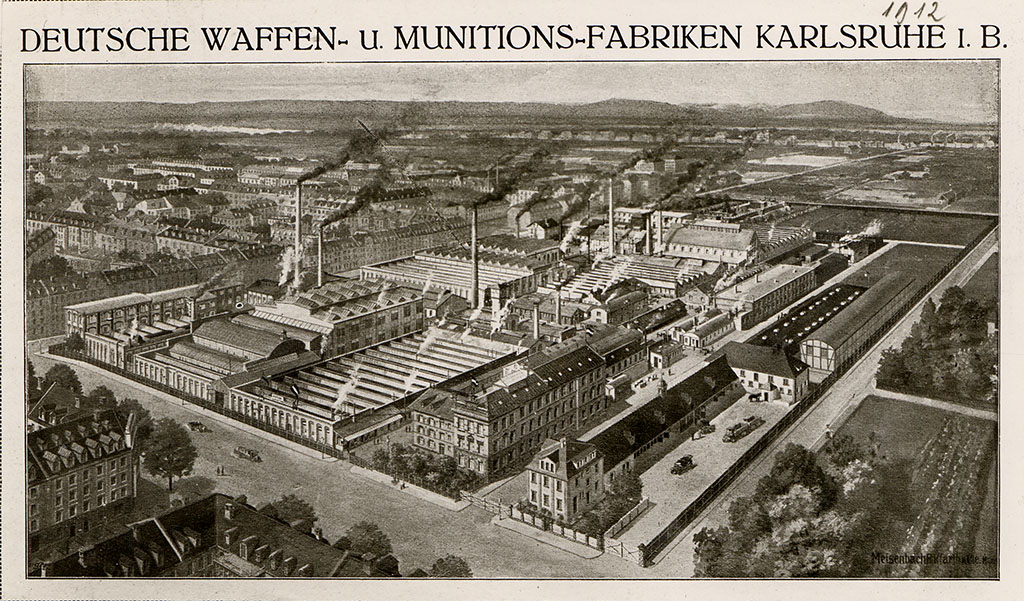 """Die """"Deutsche Waffen- und Munitionsfabriken"""" 1912; Quelle: Stadtarchiv Karlsruhe 11_DigA_0020_19"""