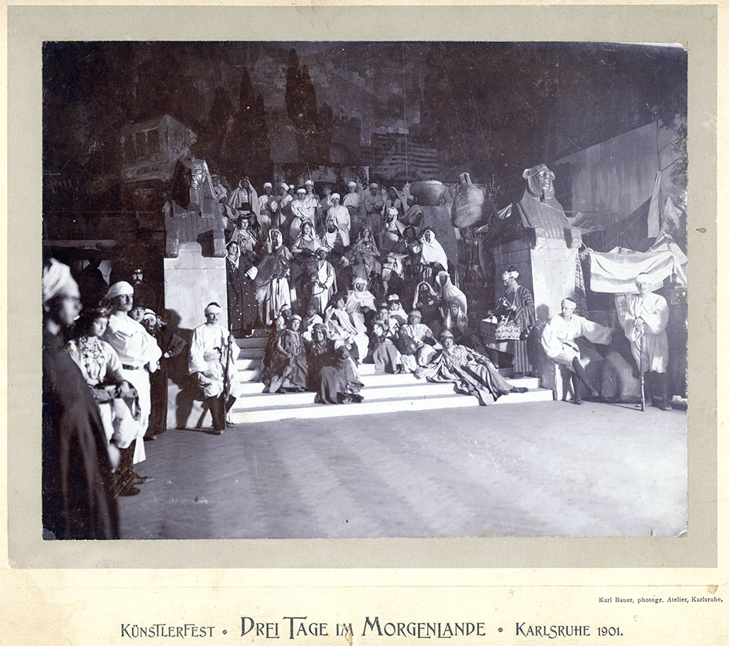 """Künstlerfest """"Drei Tage im Morgenland"""" 1901; Quelle: Stadtarchiv Karlsruhe 8_PBS_XI_1816"""