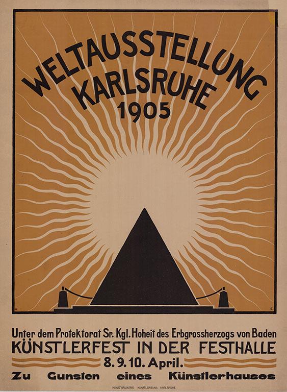 """Parodistische """"Weltausstellung in Karlsruhe""""; Quelle: Stadtarchiv Karlsruhe 8_PBS_X_6995"""